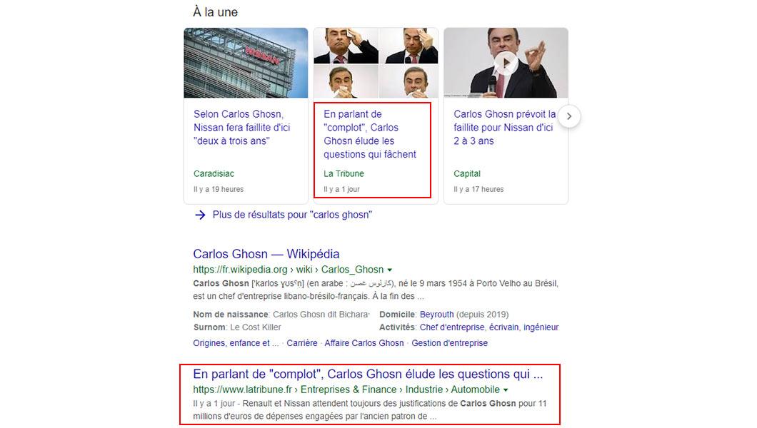 Google Articles à la une