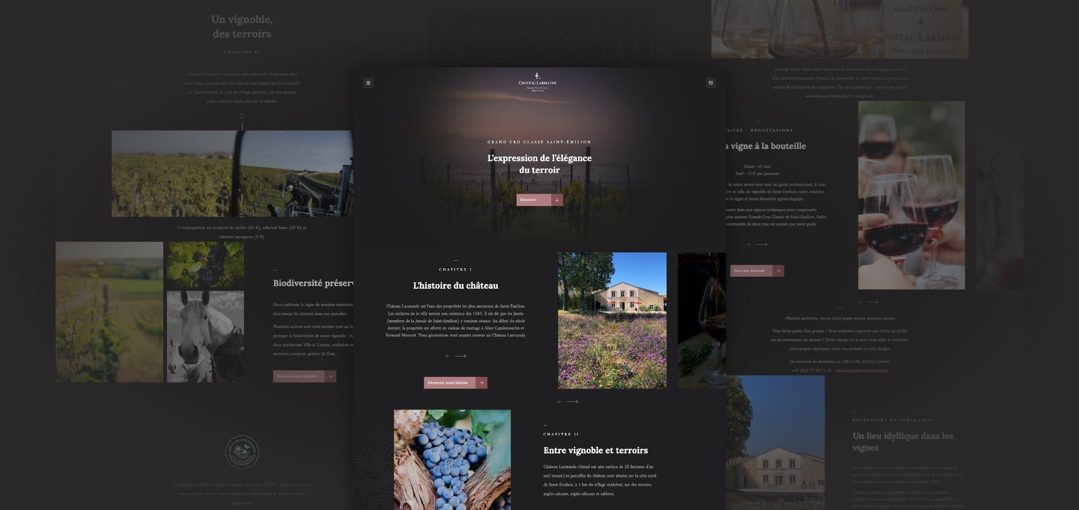Design site Chateau Larmande