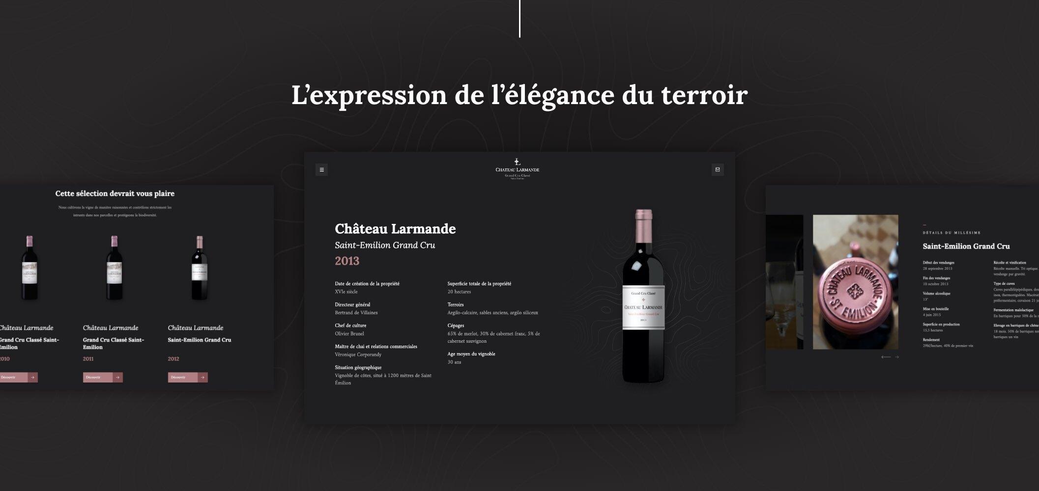 Exemple page produit Chateau Larmande