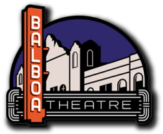 balboa theatre logo, a sylizing drawing of the buildings marquee