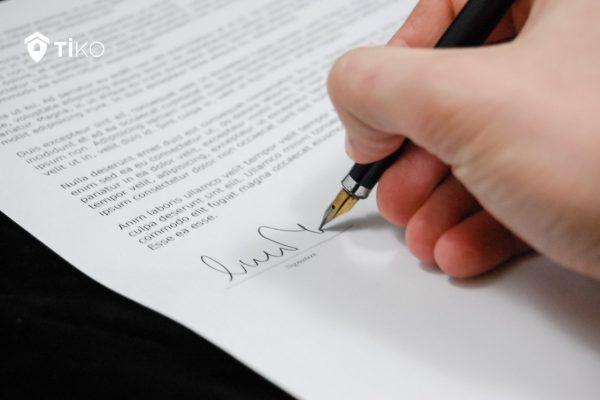 Firma de un contrato de arras