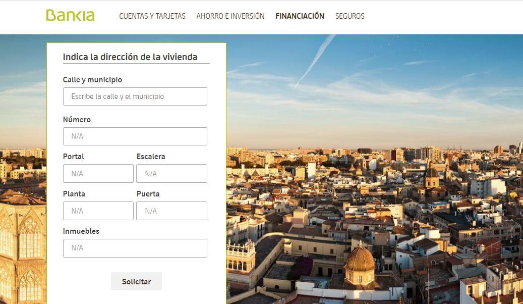 web de bankia para tasación online