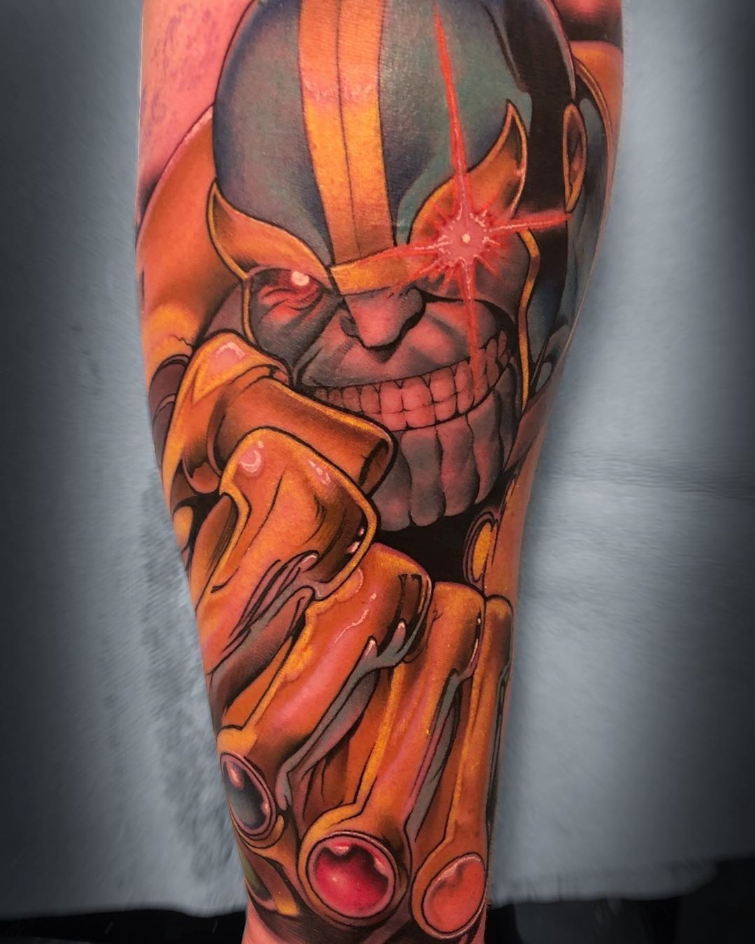 Book lovers tattoo of Thanos