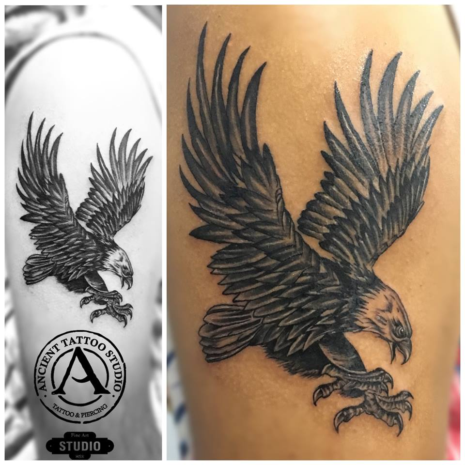 Eagle tattoo from Ancient Studio