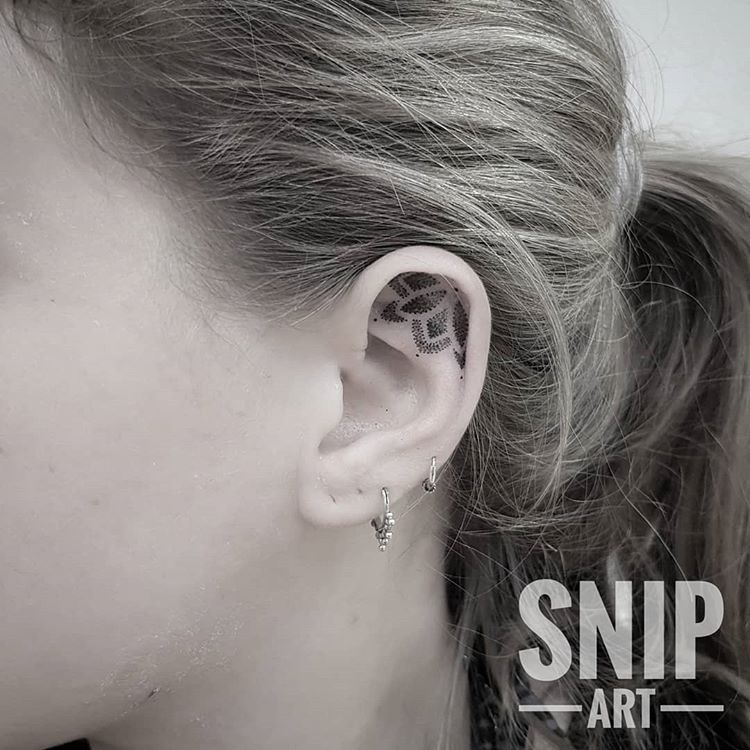 Ear tattoo by Robbin Snip Art