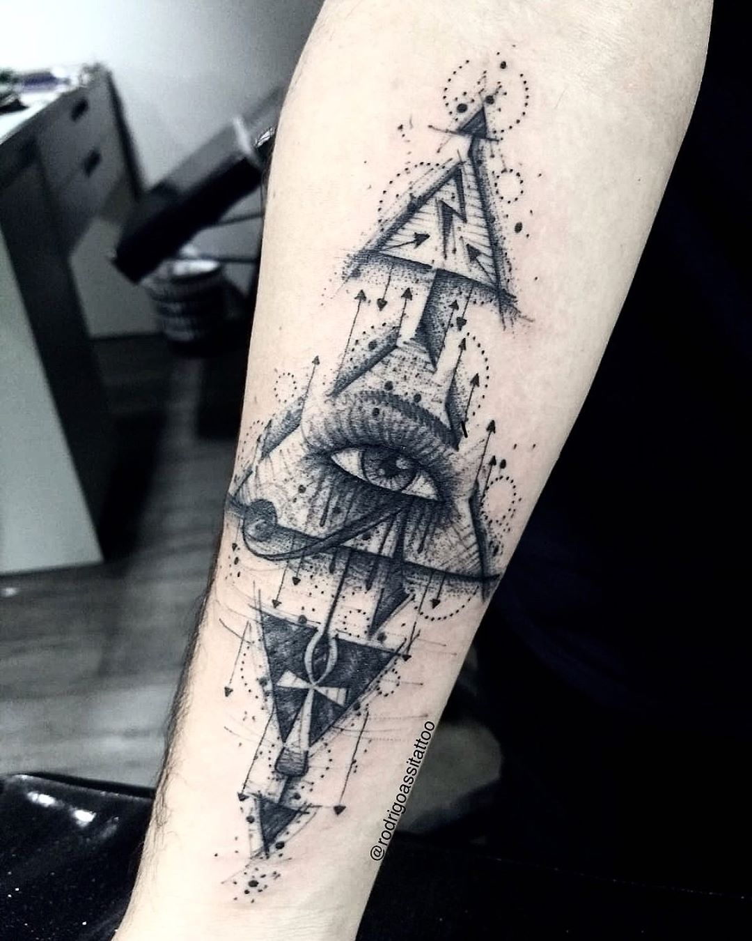 Ra eye tattoo by Rodrigo Assi