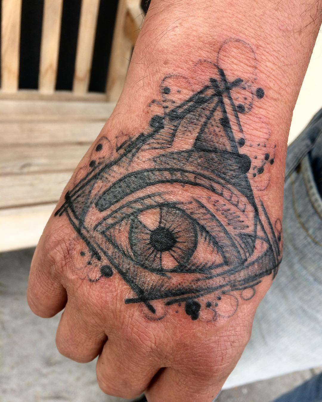 Illuminati eye tattoo from raphafons