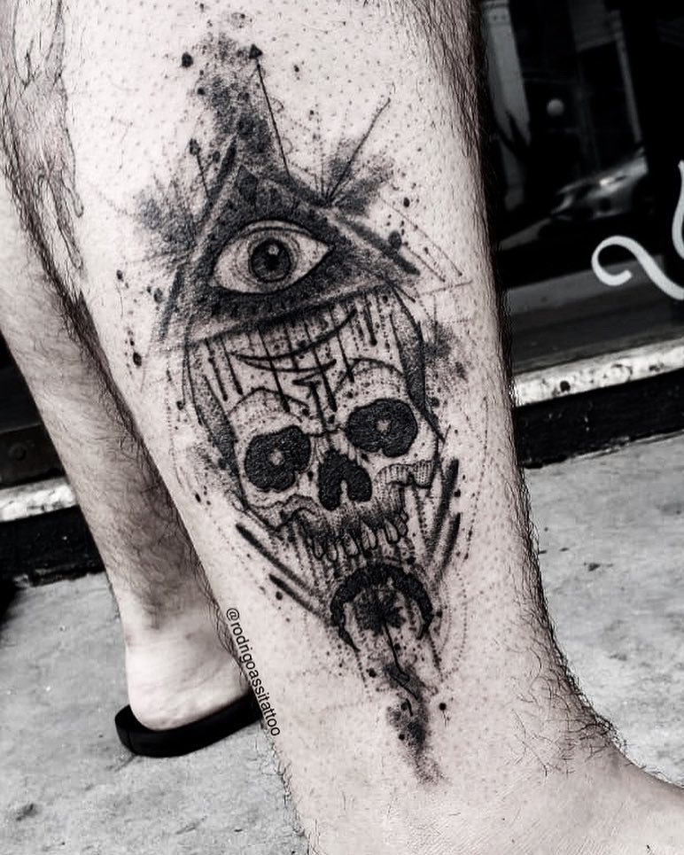 Eye tattoo by Rodrigo Assi