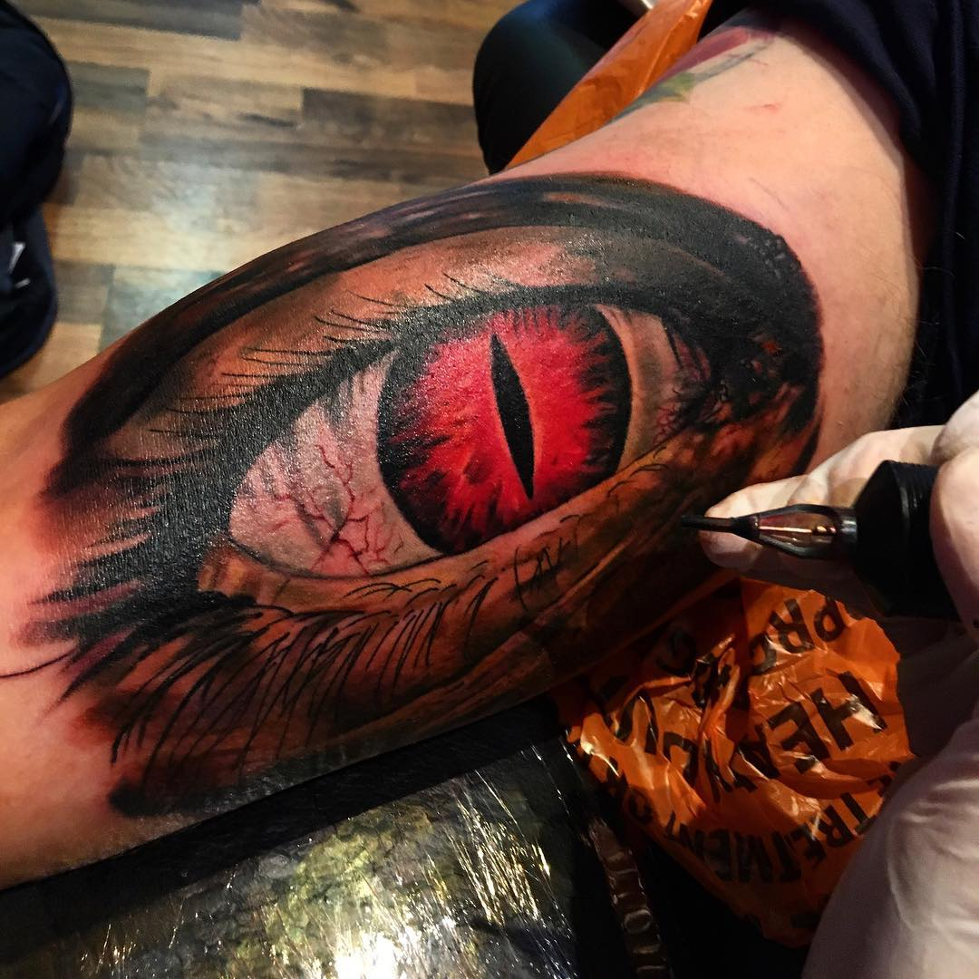 Zombie eye tattoo from thebakery