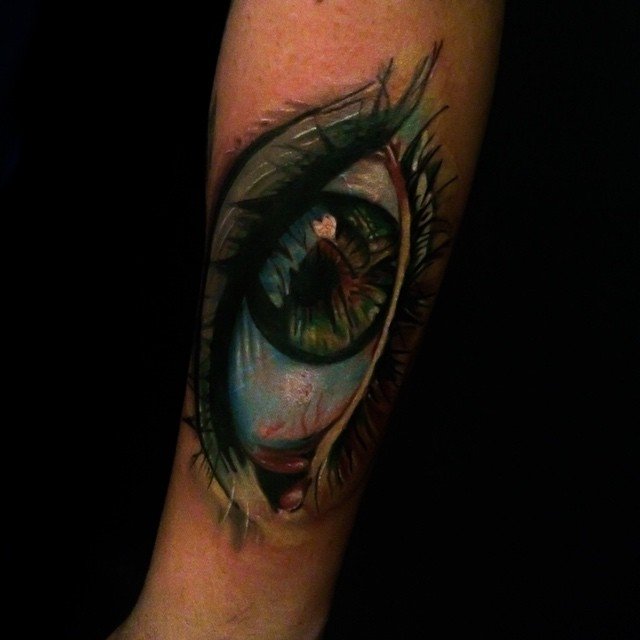 Eye tattoo from thebakery