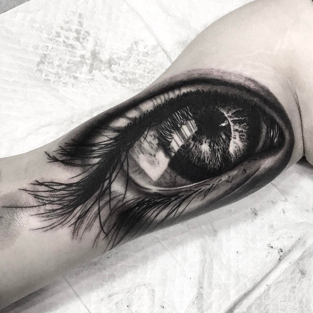 Eye tattoo from tattooist_yeono