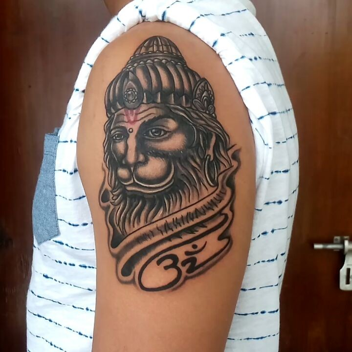 Hanuman tattoo from Astron