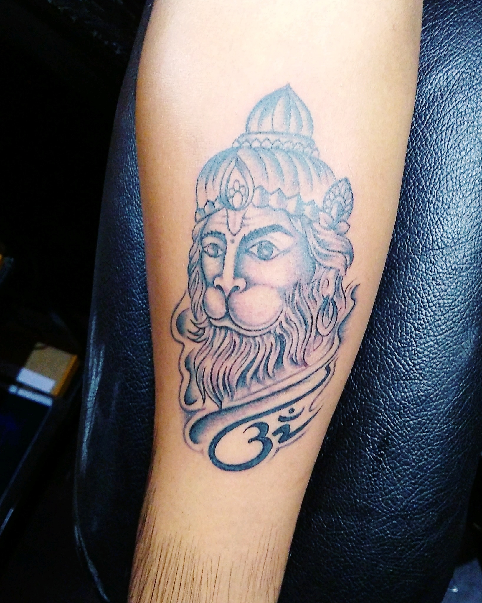 hanuman tattoo on hand