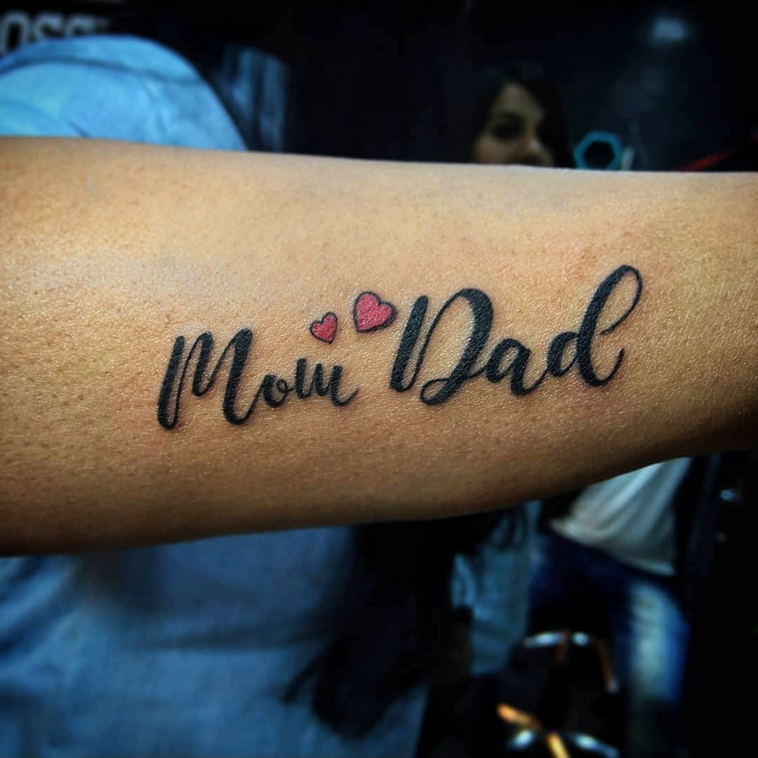 Mom dad tattoo from Verve