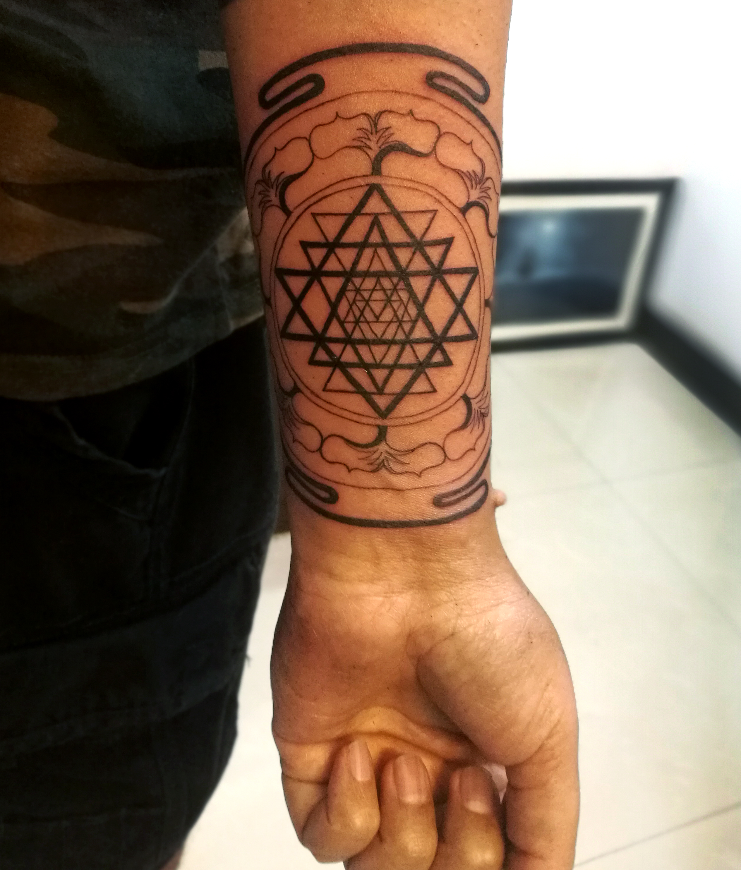 Mandala tattoo from Purple Monk