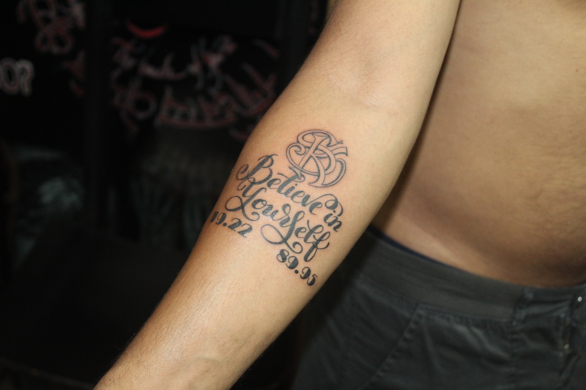 Quote tattoo from Skinart