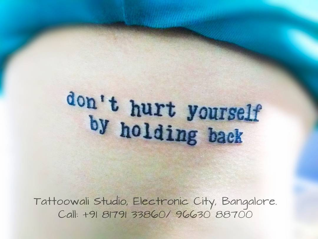 Quote tattoo from Tattoowali