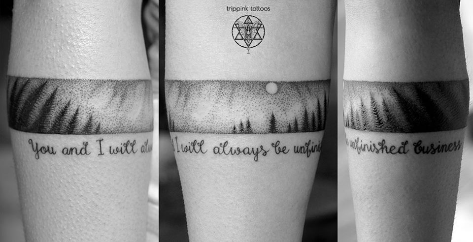 Quote tattoo from Trippink