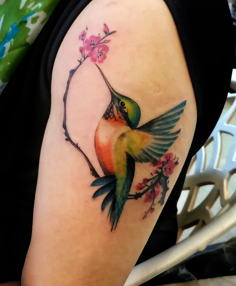 Watercolour tattoo from Verve Studio