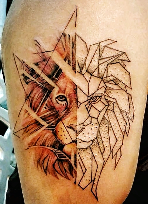 Lion watercolour tattoo from Verve Studio