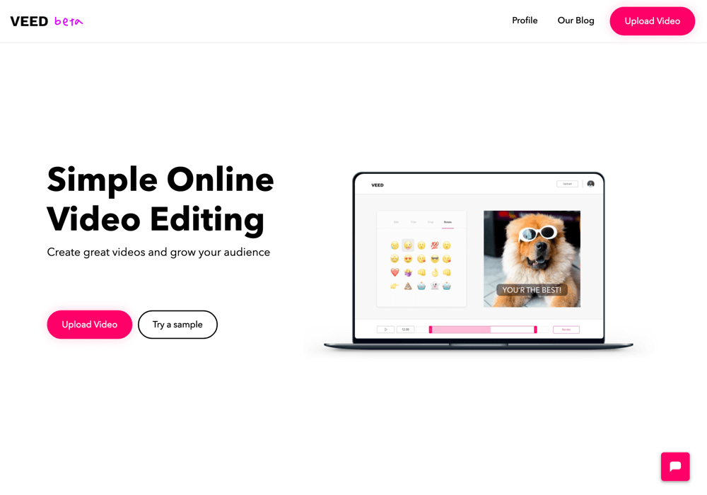 Veed Landing Page