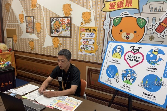 Ehime's Yoshikazu Kawakami—To prevent COVID-19 from spreading further, the interview was held online