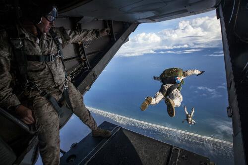 army training skydive