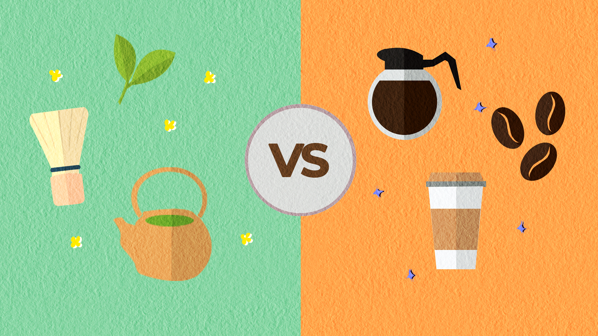 Coffee vs Matcha Tea Caffeine Article Thumbnail