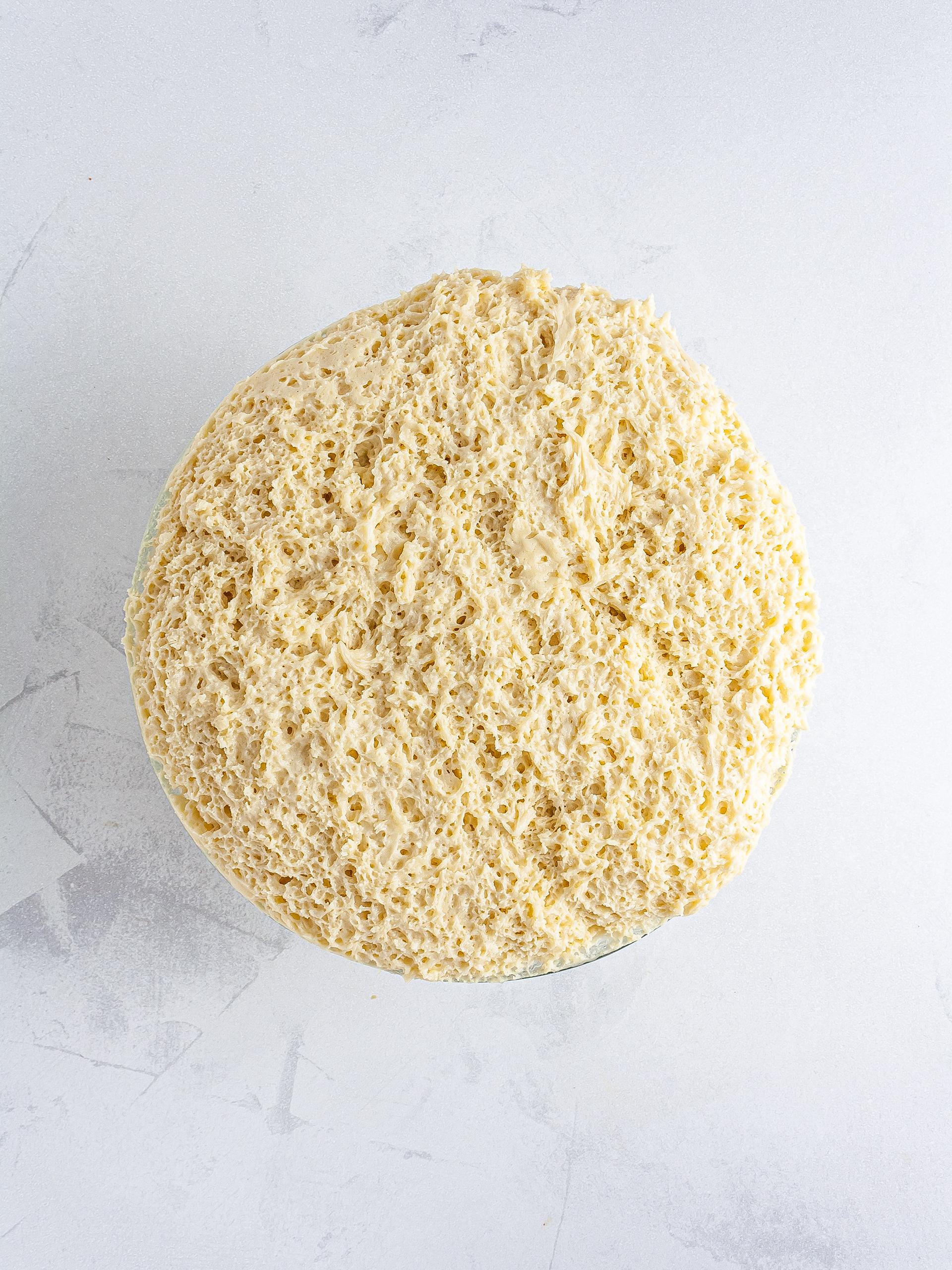 Proved brioche dough