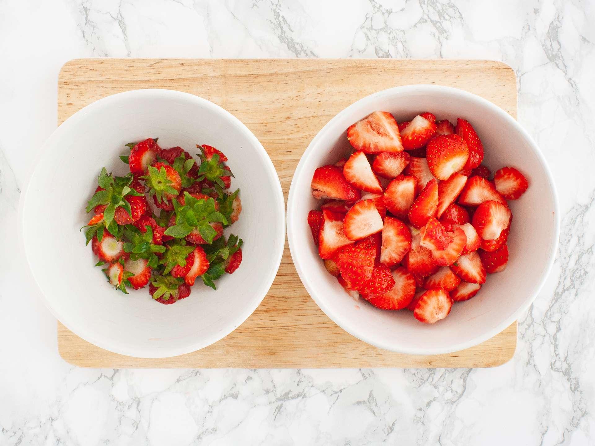 Step 1.1 of Sugar Free Strawberry Jam without Pectin