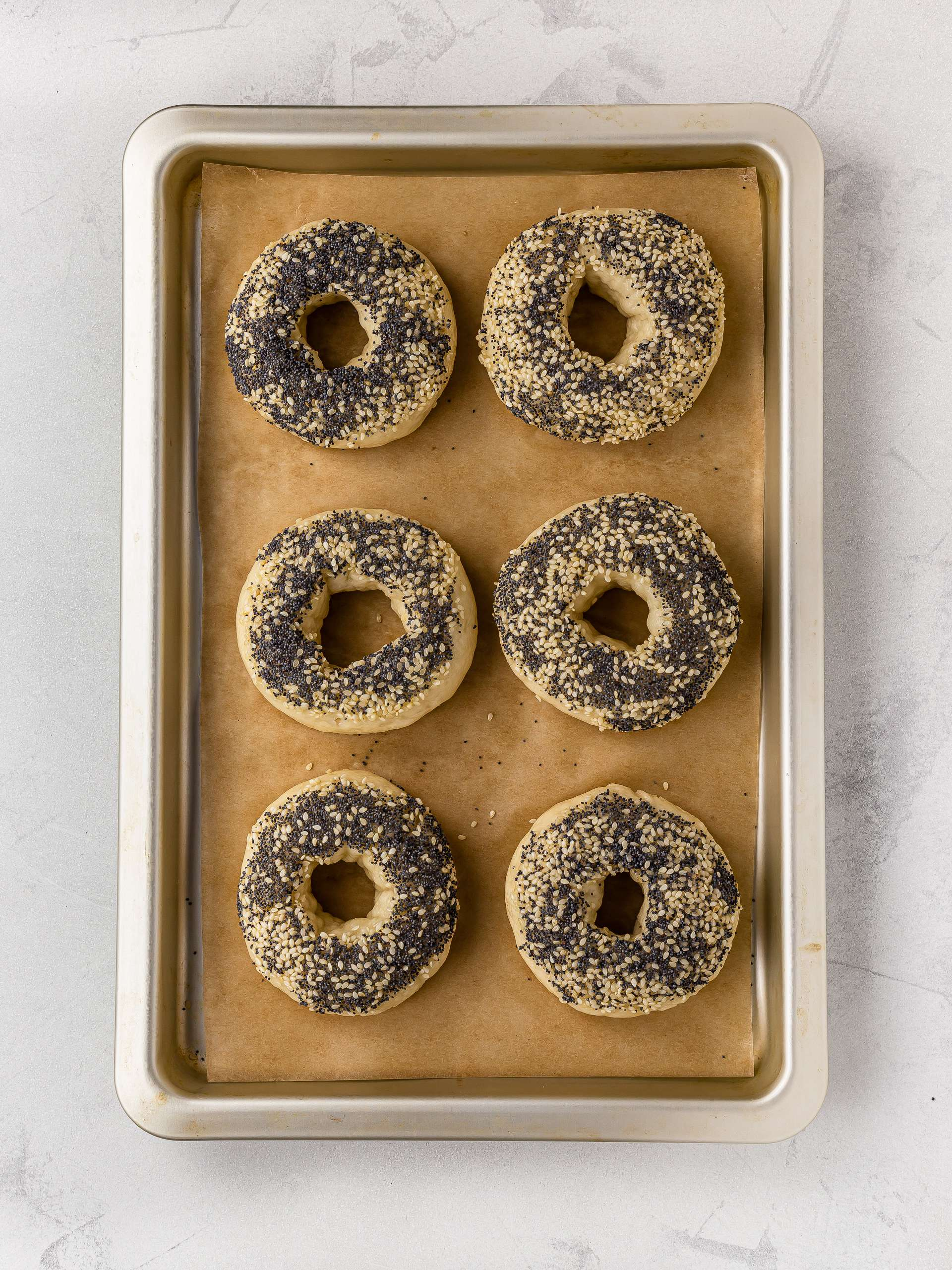 sesame and poppy seed bagels