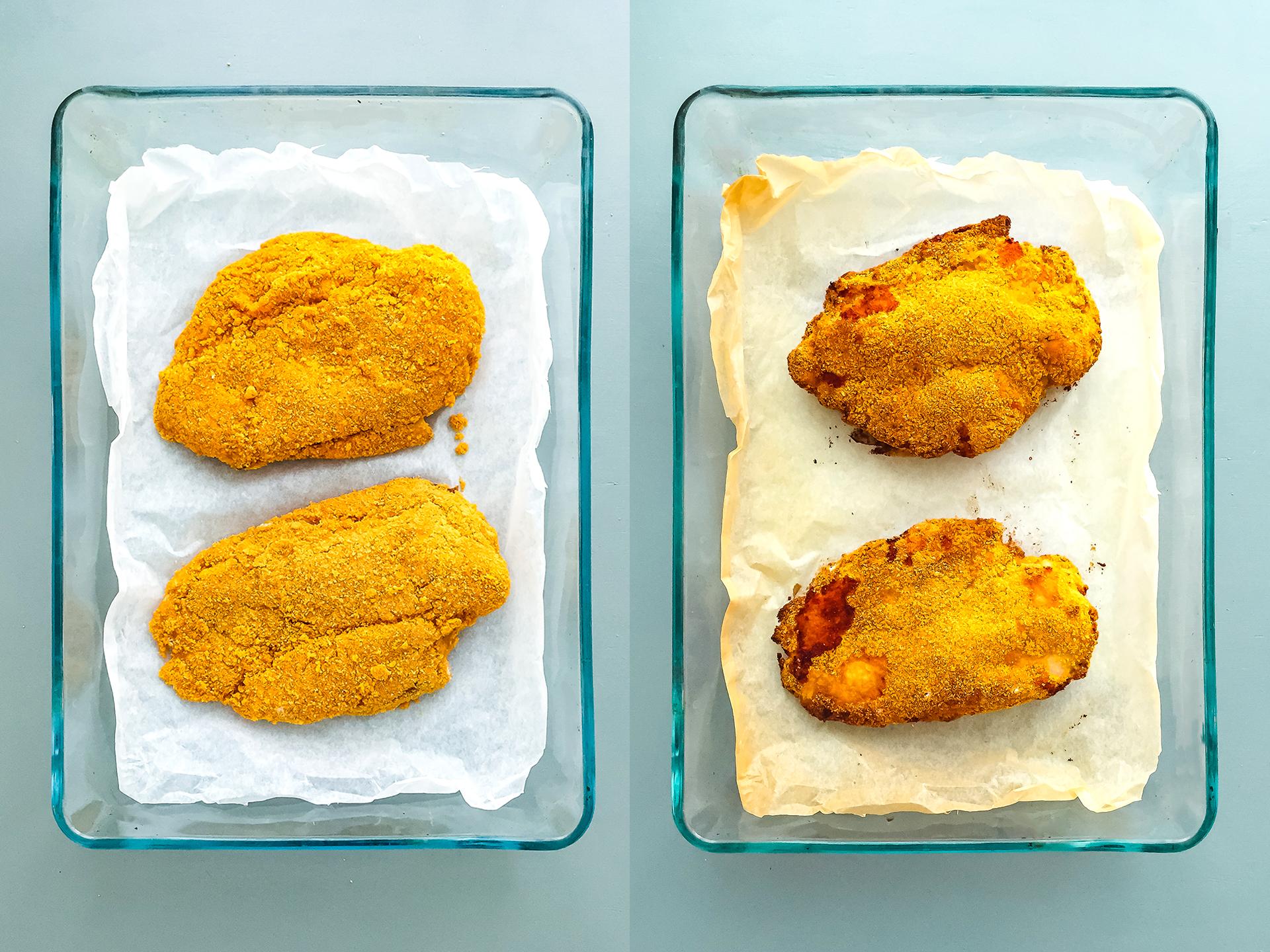 Step 3.1 of High protein Breaded Chicken Cordon Bleu