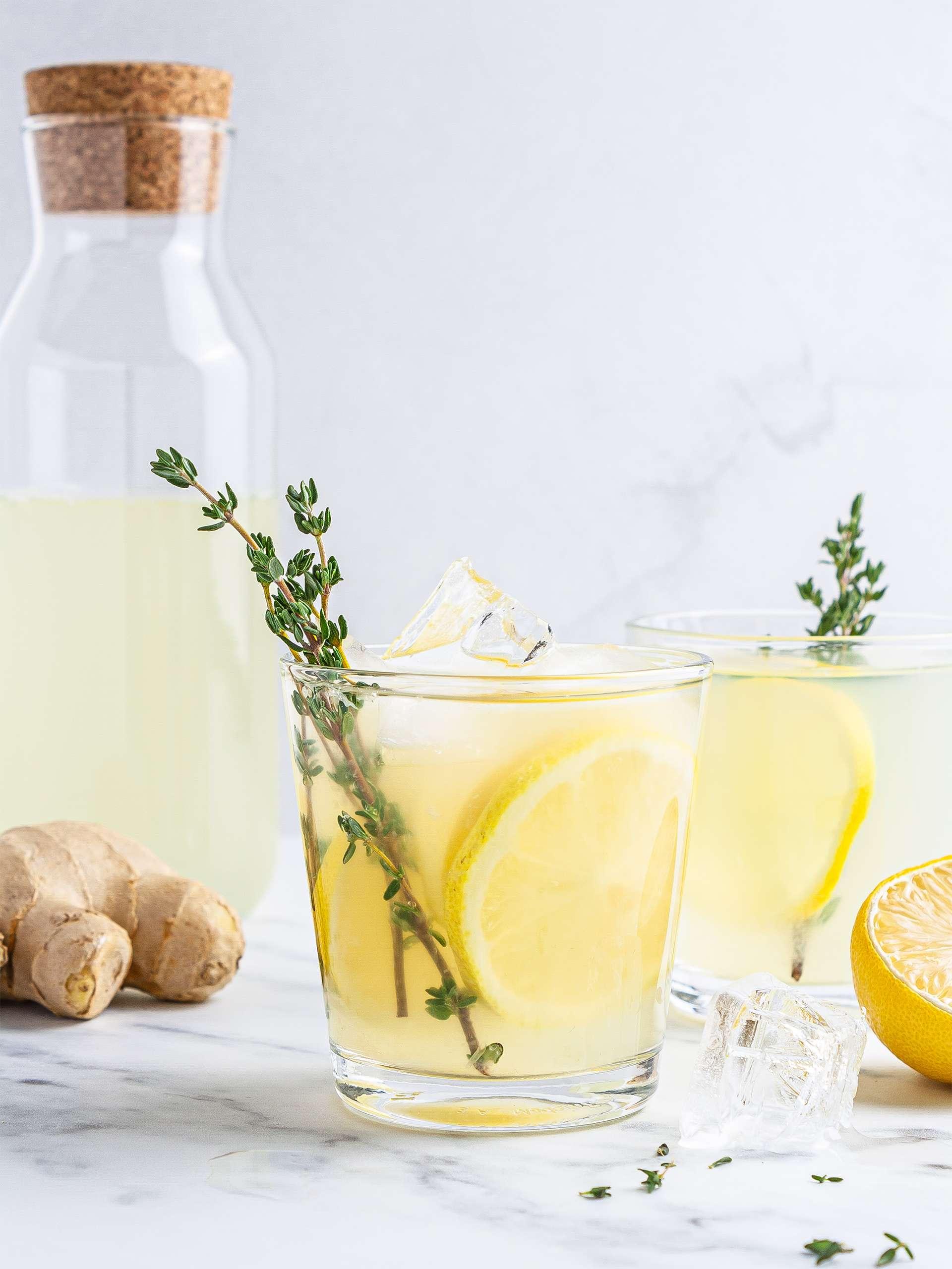Sugar-Free Ginger Thyme Lemonade Thumbnail
