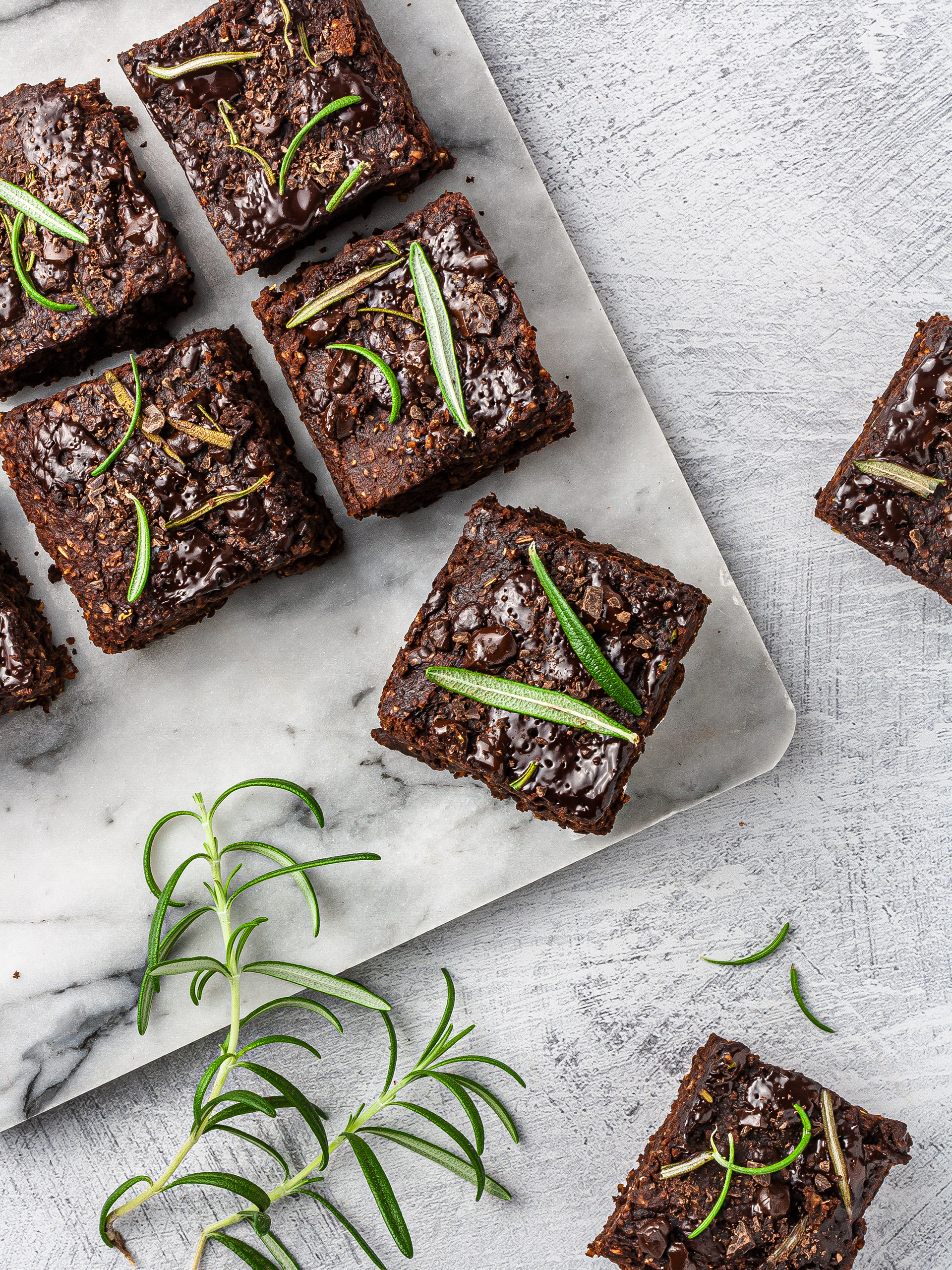 Sugar-Free Rosemary Brownies Recipe Thumbnail