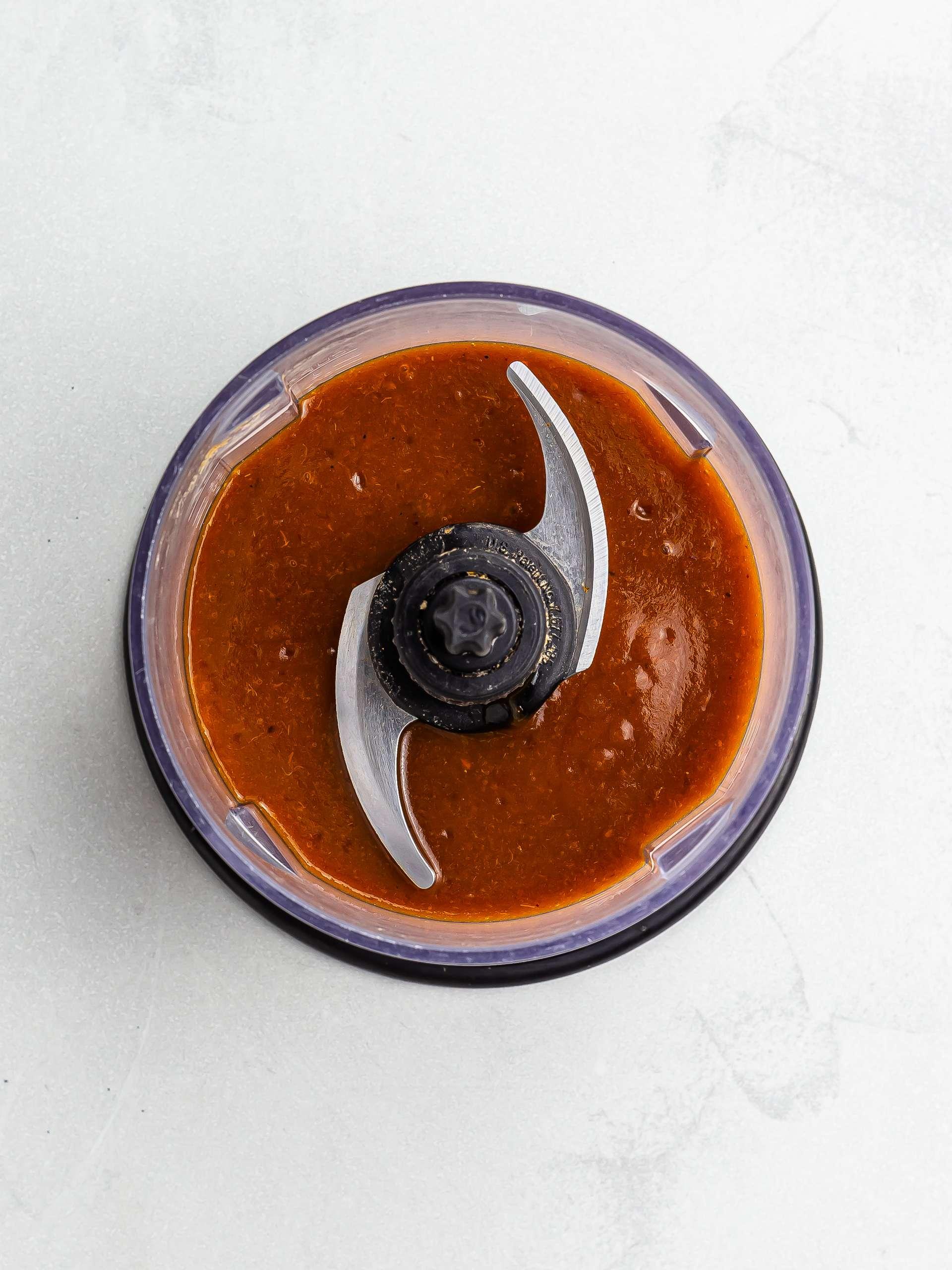 blended homemade chamoy sauce
