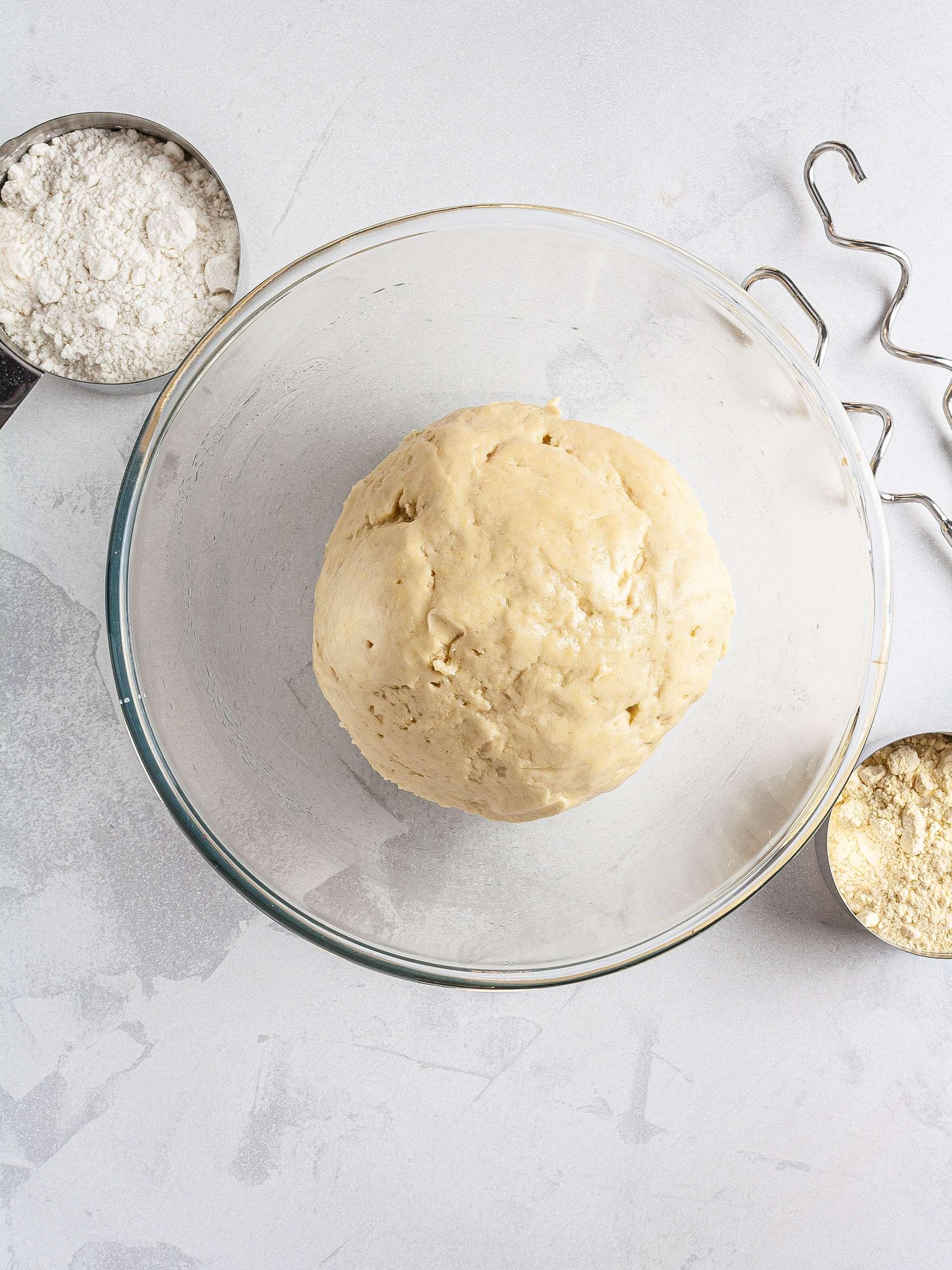 Croissant dough with gluten-free flour