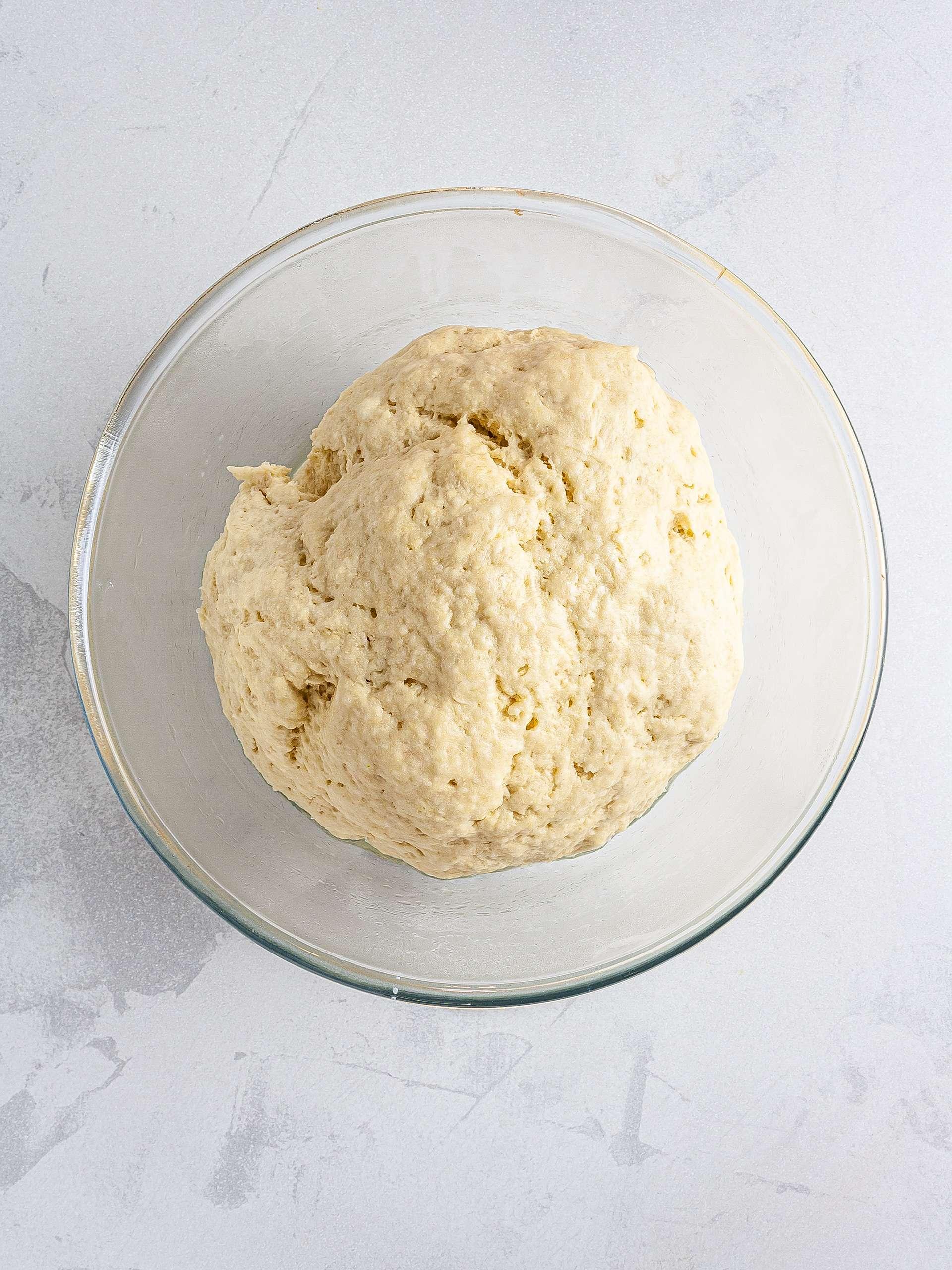 Proved croissant dough