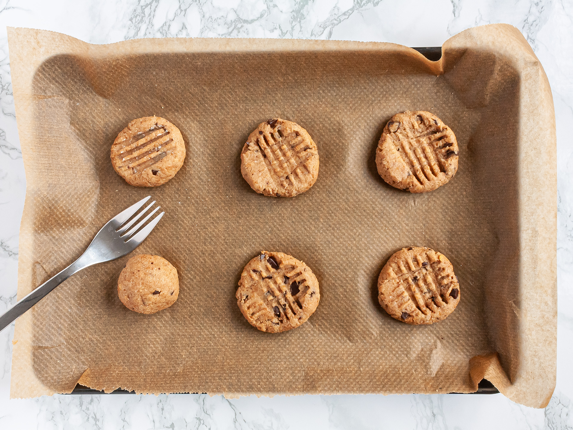 Step 3.1 of Vegan Peanut Butter Chocolate Chip Cookies Recipe