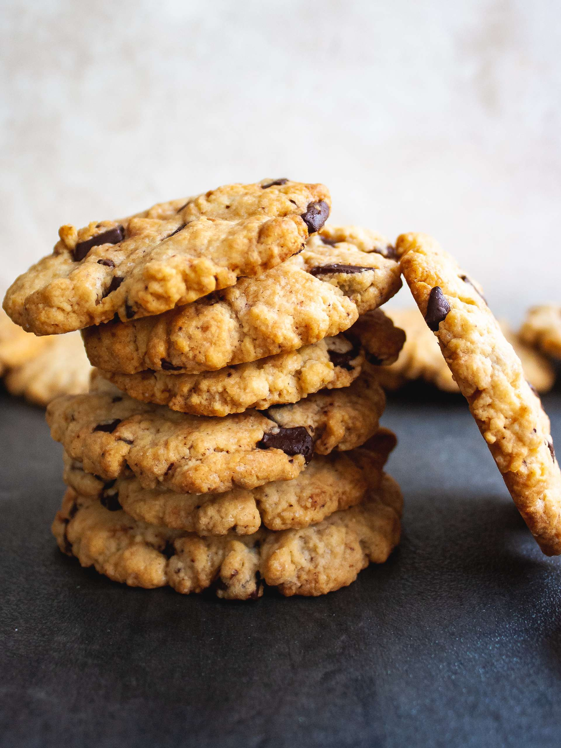 Gluten Free Oat Flour Chocolate Chip Cookies