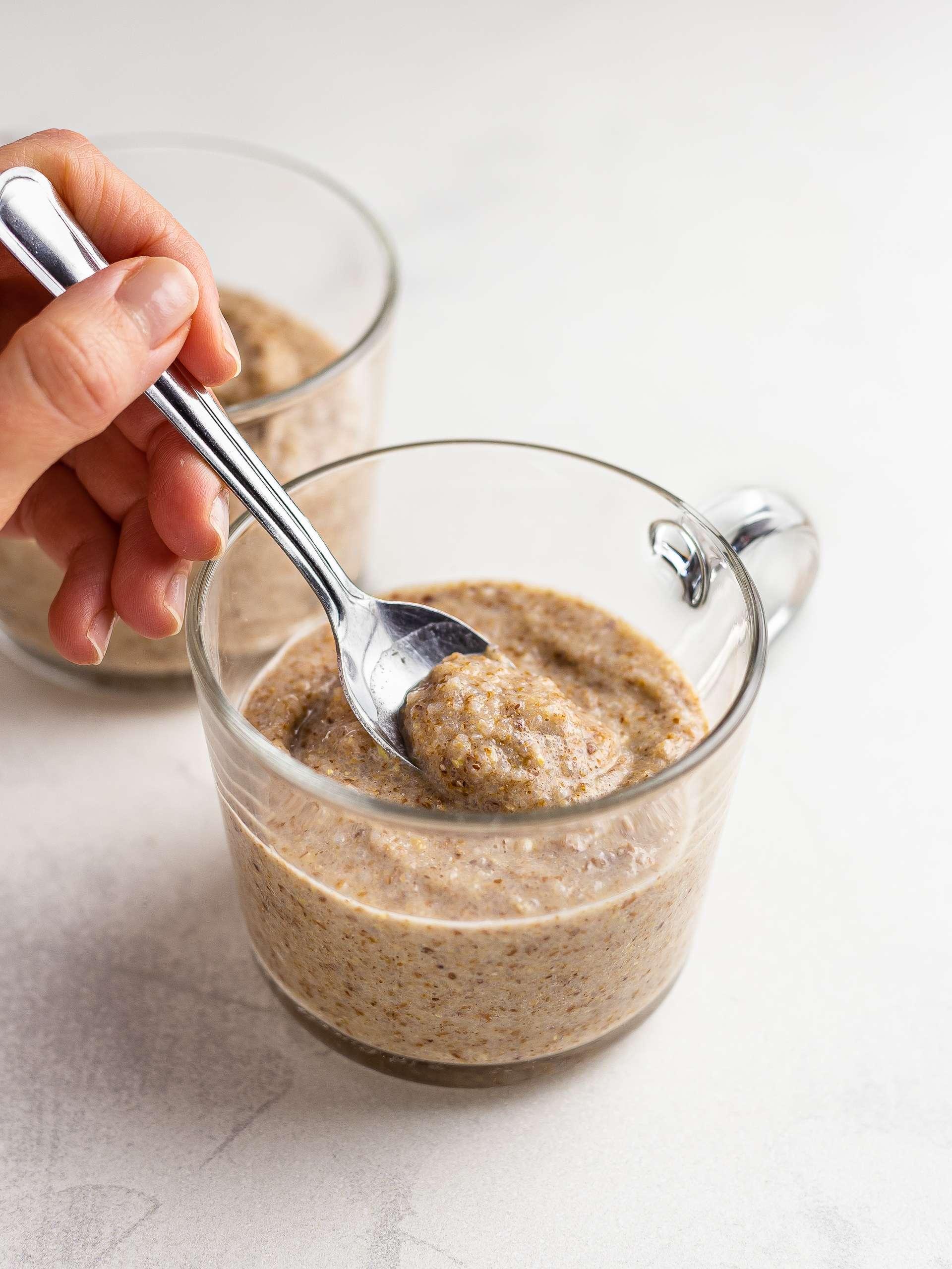 raw buckwheat porridge in a cup