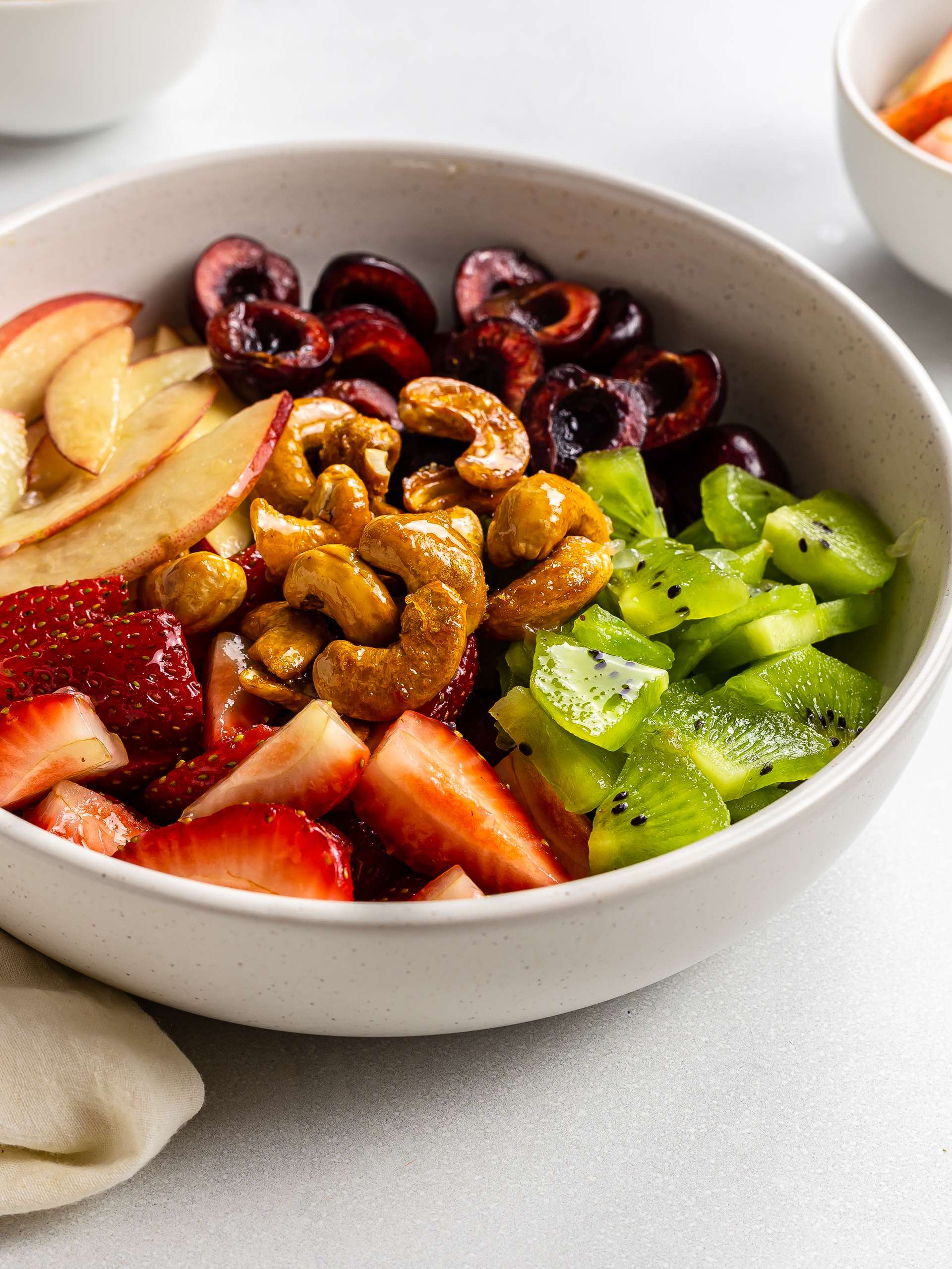 Summer Fruit Salad with Maple-Roasted Cashews Thumbnail