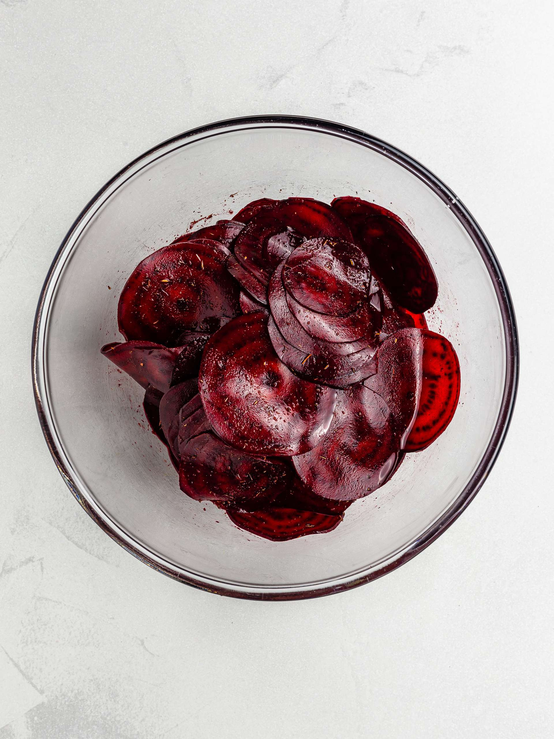 beetroot chips seasoned with thyme salt