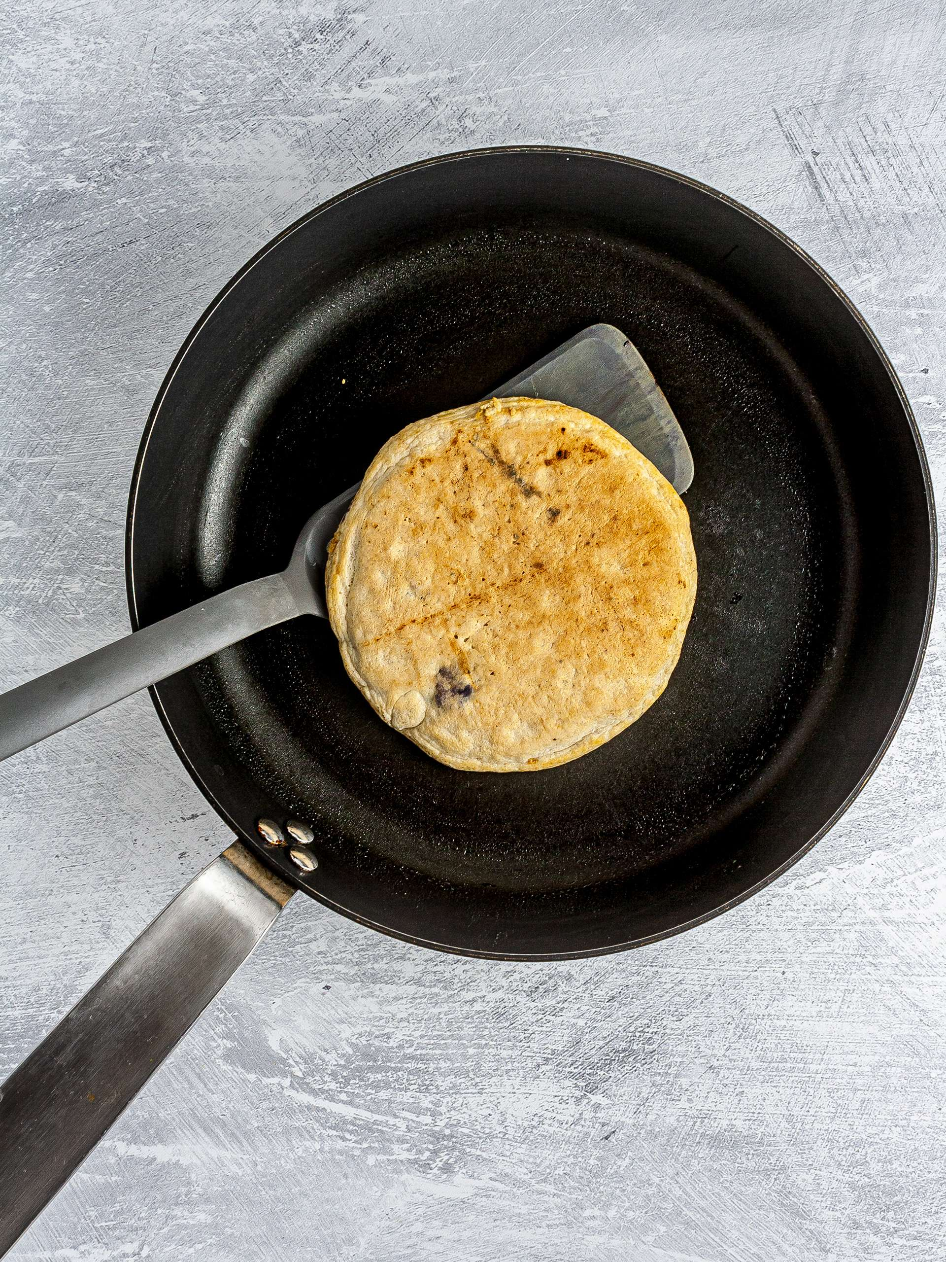 Step 3.2 of Gluten-Free Blueberry Pancakes Recipe