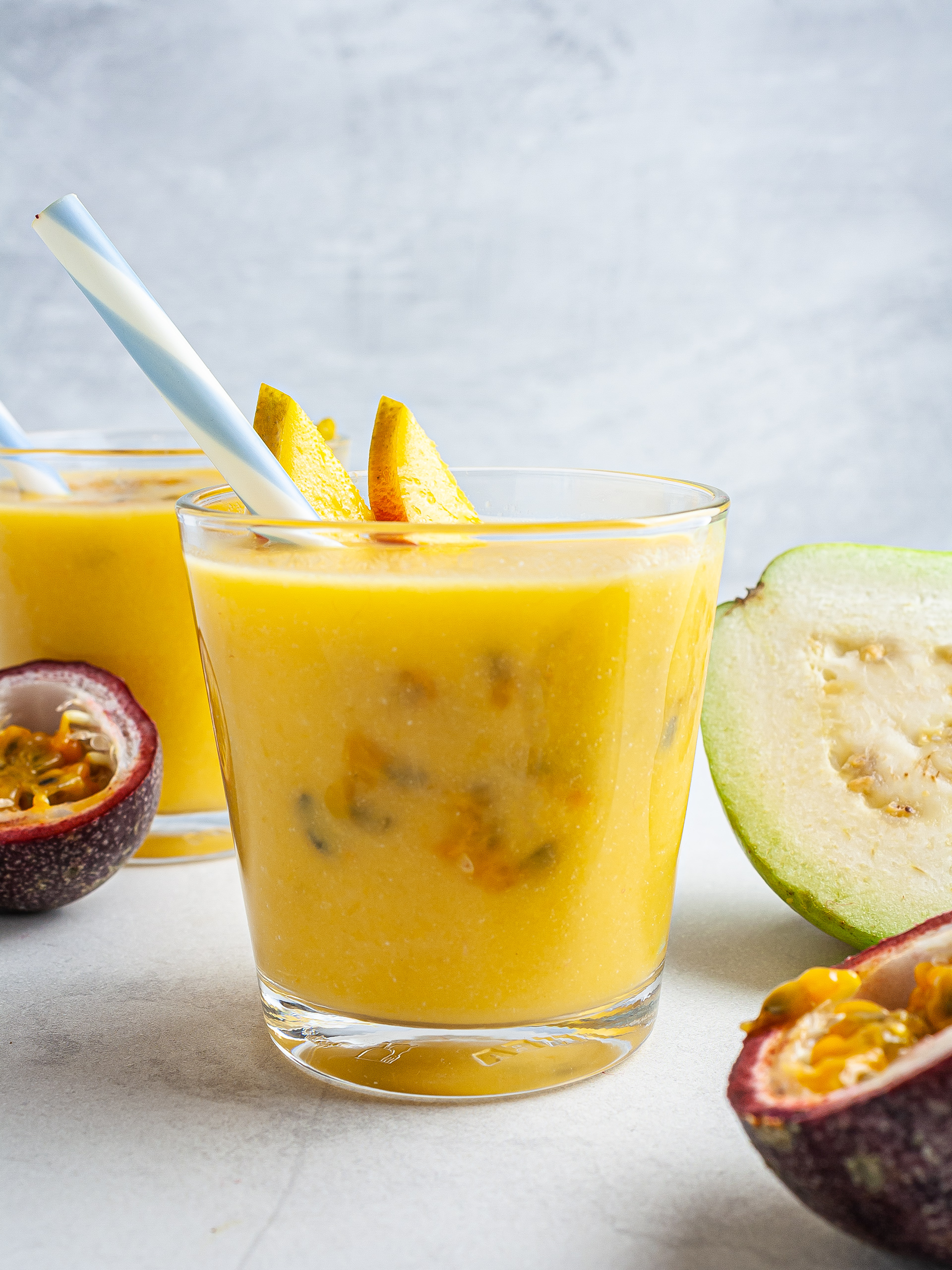 Tropical Guava Mango Smoothie Recipe Thumbnail