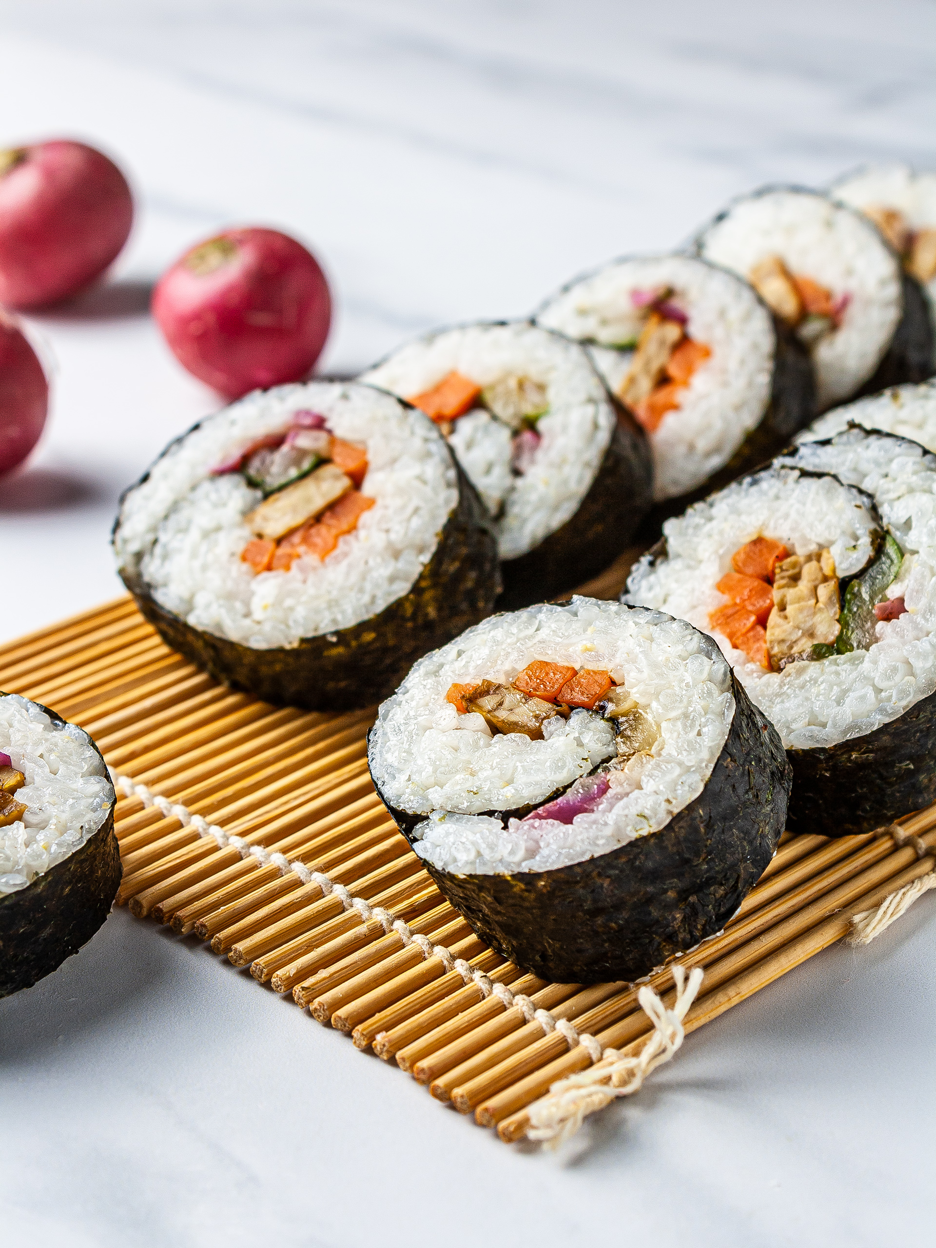 Vegan Kimbap Recipe with Tempeh Thumbnail