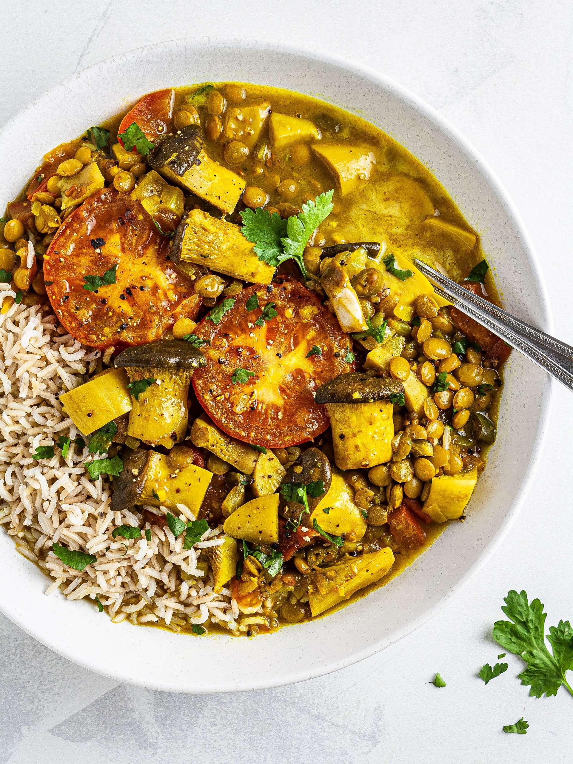 Kerala-Style Mushroom Curry Recipe Thumbnail