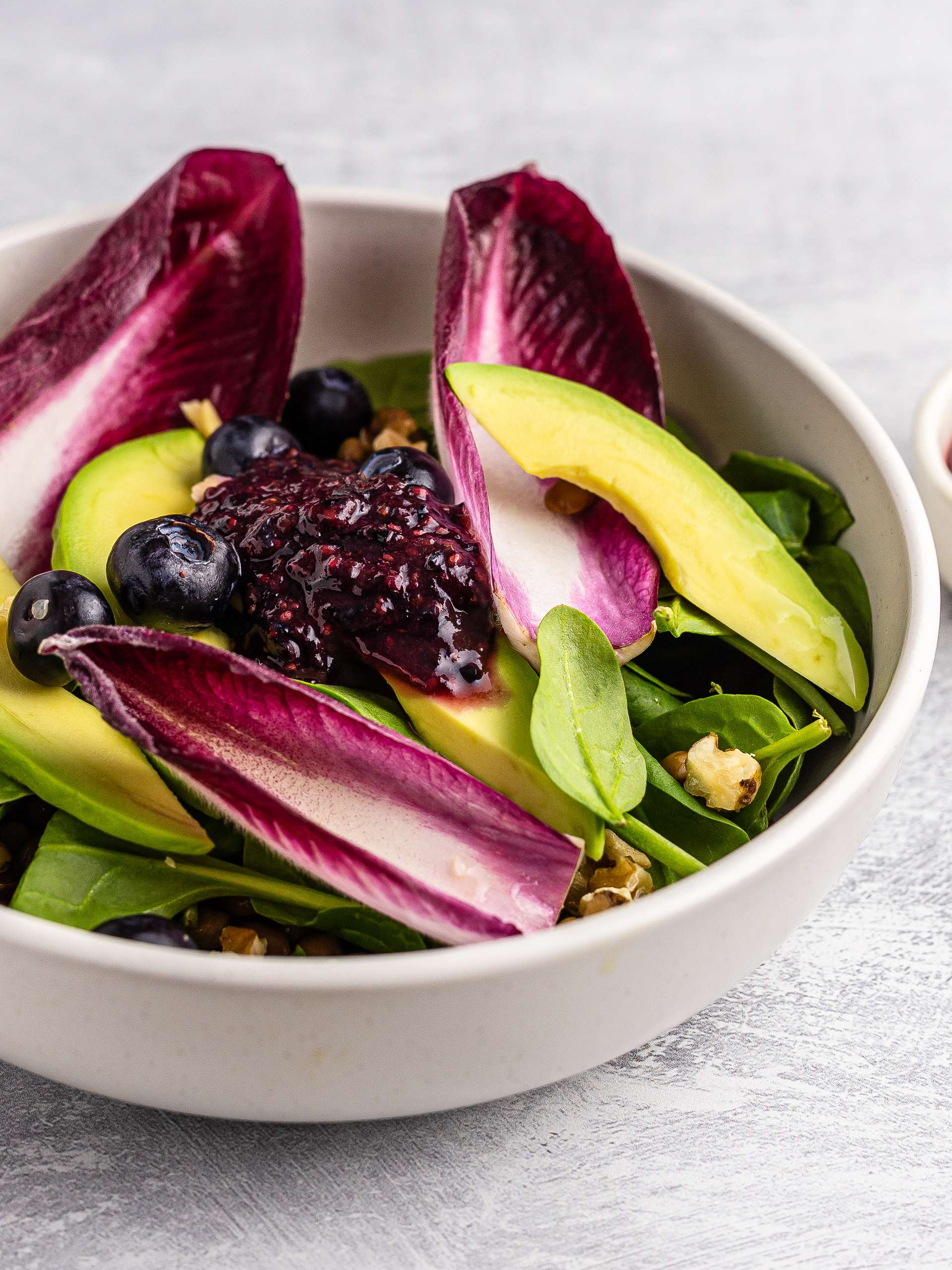Red Chicory Salad with Blueberry Dressing Thumbnail