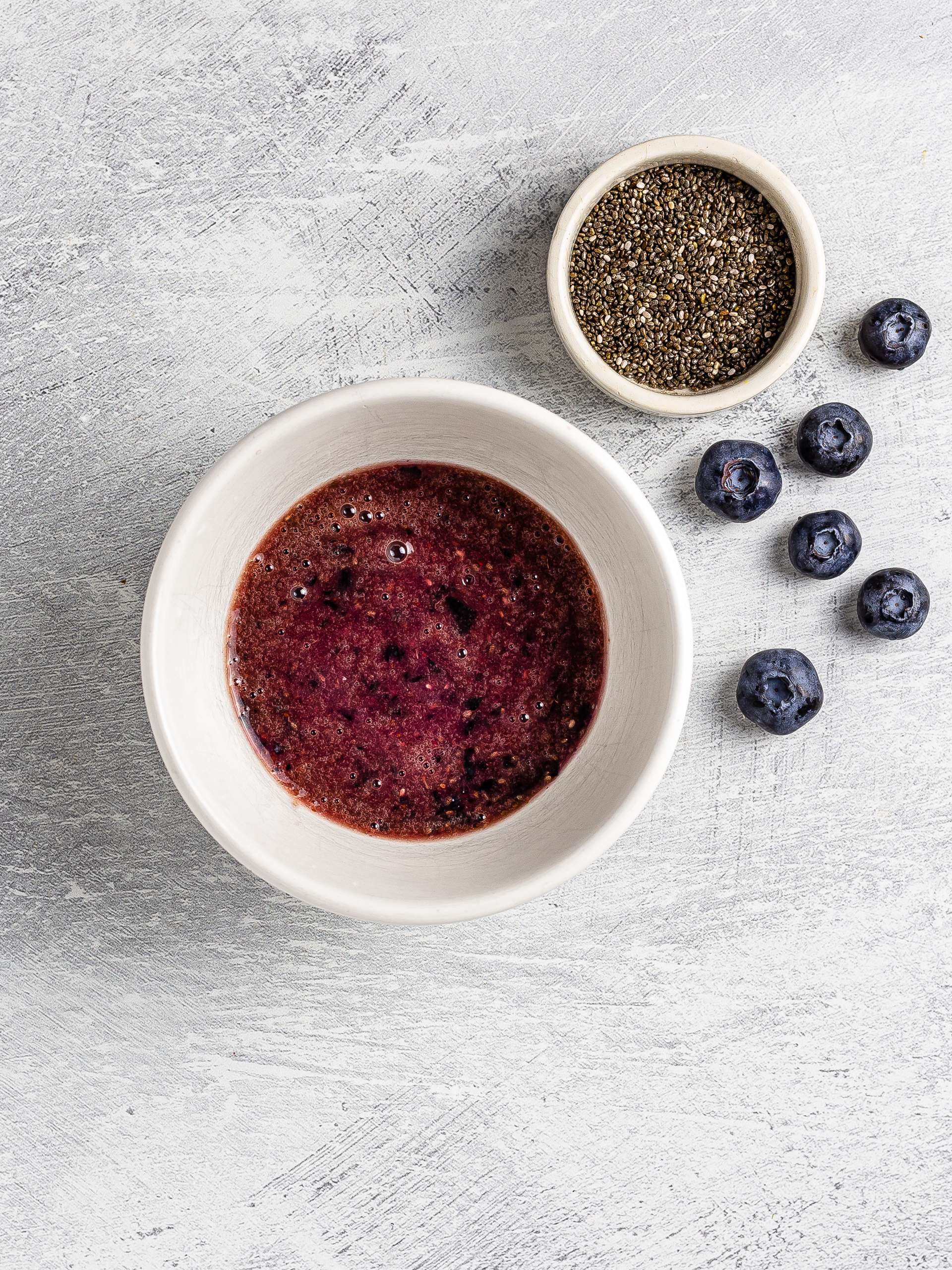 blueberry dressing with chia