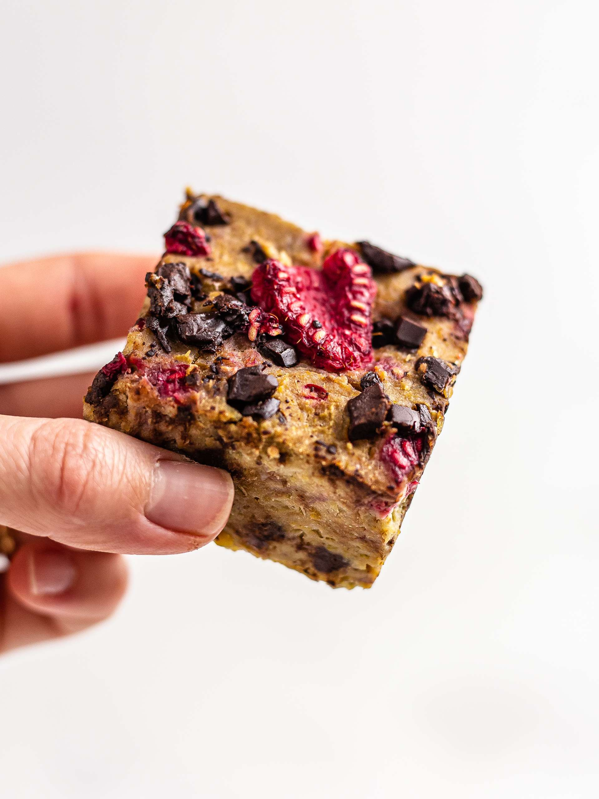 Raspberry Chickpea Blondies {Vegan, GF, Sugar-Free}
