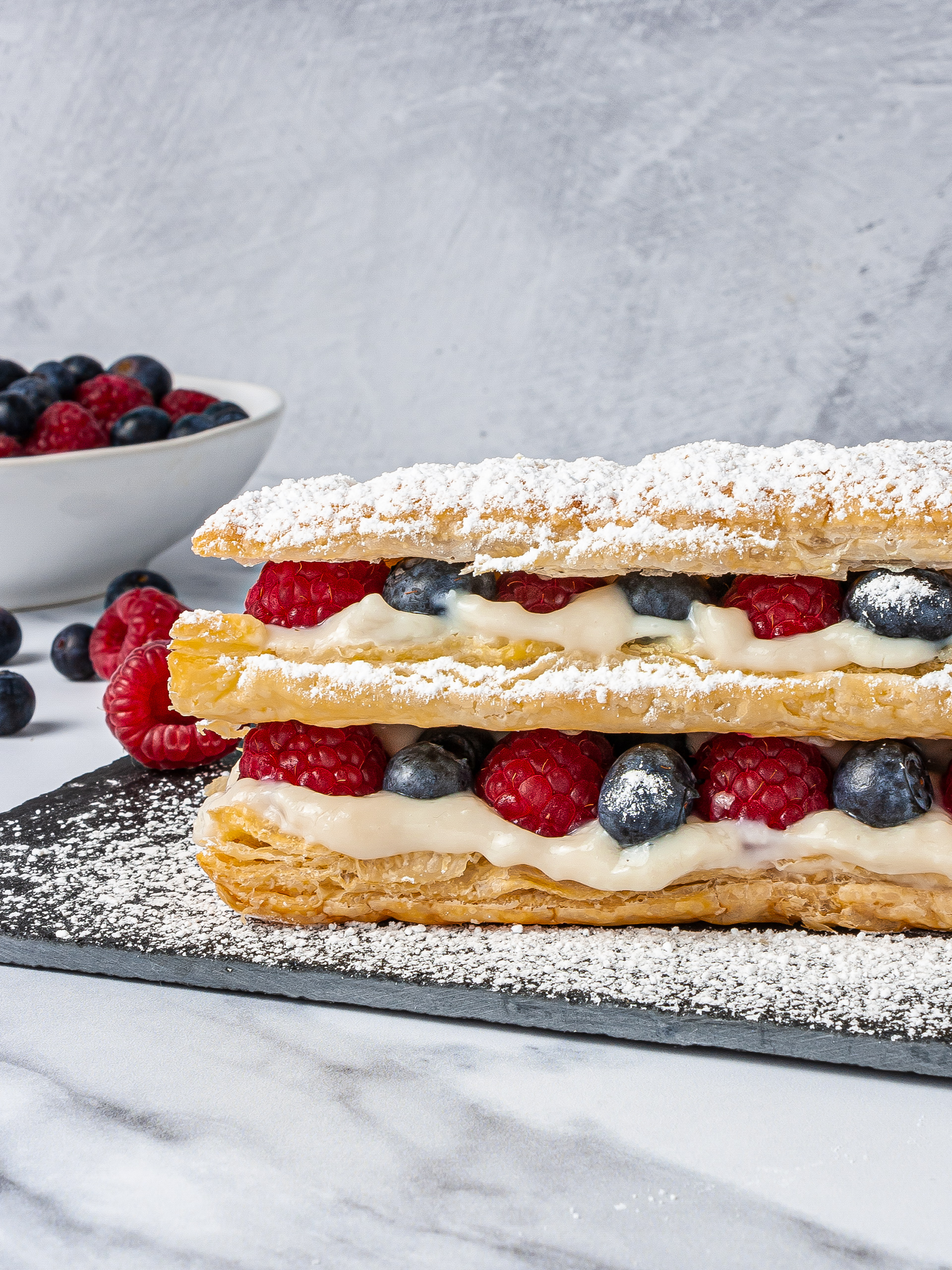 Vegan Mille-Feuille Recipe with Almond Cream Thumbnail